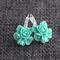 Mint Flowers ~ Lever Back Earrings
