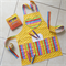 Kids/Toddlers Apron yellow - crayon pocket apron - lined craft/play/art apron