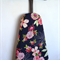 Ironing Board Cover - stunning red and white flowers on navy background