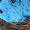Sky blue cobweb felt baby blanket/wrap photo prop photography newborn nest fill