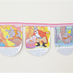 Dumbo Bunting Little Golden Book Wall Hanging Elephant Animal Children Circus