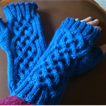 Warm wool, fingerless mitts - teen/adult