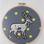 Deer Hoop Art | Baby Nursery | Children's Bedroom Decor | Baby Shower Gift