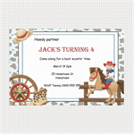 Printable Cowboy Birthday Invitations