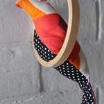 Fabric Bird Mobile   Nursery Mobile   Baby Mobile   Embroidery Hoop Art