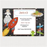 Printable Space Birthday Invitations