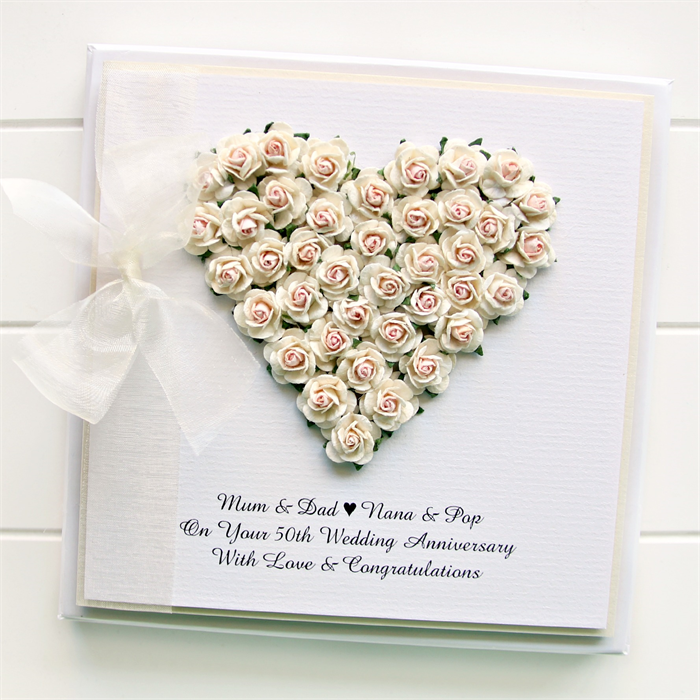 anniversary custom card personalised boxed keepsake 20th 30th 40th