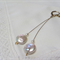 Coin Pearl Disk Earrings 14k rolled gold