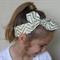 "Gold baby headband, ""Laura"", gold baby knot headband, metallic gold,chevron"