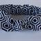 """Geometric baby knotted headband,""""Zoe"""", navy blue and white, baby headband"""
