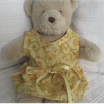 Teddy Bear Clothes, Handmade Citrine Bear Dress
