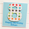 ANY AGE Personalised children age happy birthday card rainbow stars