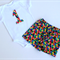 1st Birthday Set - Very Hungry Caterpillar spots Shorties with no 1 singlet