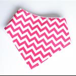 Pink chevron baby bandana bib zigzag girls zig zag bibs girl dribble babies