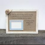 newborn photo frame, 6x4 photo frame for baby, nursery decor, poem for new mum