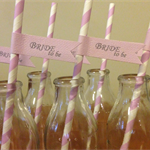 "20x ""Bride to Be"" Purple Party Straws Decorations"