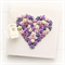 PERSONALISED heart card purples paper roses gift boxed mother's day birthday