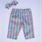 Baby Boys Colourful Pants - Zig Zag with Matching Bow Tie Sizes 6M & 1