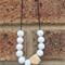 White Teething Necklace