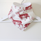 Stylish Reindeer/Stag Red and Ivory Bandana Dribble Bib, Double Layered Backing