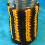 Bottle Cosy - Brown and Gold