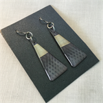 Grey Triangle Dangle Earrings Niobium Original and Unique one off design