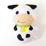 Moo Cow Rattle Toy White Black Green