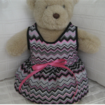 Teddy Bear Clothes, Handmade Chevonne Bear Dress