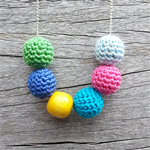Crochet ball necklace