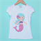 Miss Mermaid Applique tee sizes 1-7 Pretty, aqua, pink