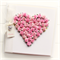 PERSONALISED heart card pink paper roses gift boxed mother's day birthday