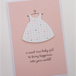 a sweet new baby girl - handmade card