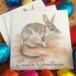 Easter cards bundle of 3, featuring the Bilby, gift cards, Australian Easter