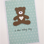 a new baby boy - handmade card