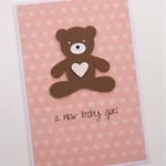 a new baby girl - handmade card