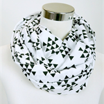 Black Triangles Infinity Scarf (Snood) Maternity. Breast Feeding /Nursing Cover.