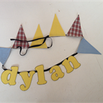 'DYLAN' name bunting for the special little man in your life.