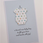 a brand new baby boy - handmade card