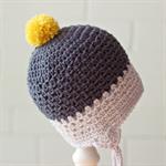 pom pom earflap beanie | crochet | toddler | boy