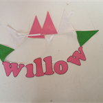 'WILLOW' name bunting for someone very special in your life.