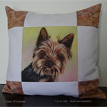 Cushion Cover Yorkshire Terrier Dog Art Animal Throw Pillow Decorative Cushion
