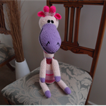 Floss: Hand crocheted Giraffe, washable, safe, Christmas present, OOAK