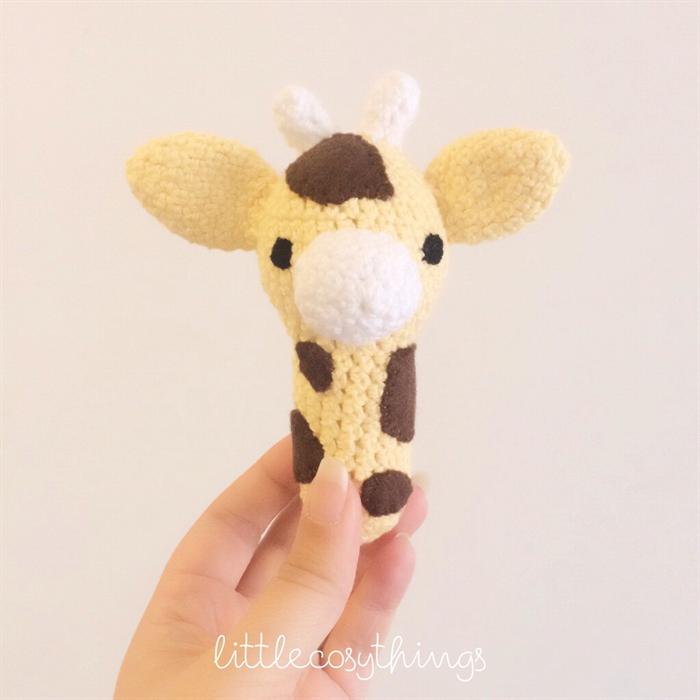 Giraffe George Amigurumi : Amigurumi MINI George the Giraffe Rattle Pattern PDF - by ...