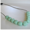 Silicone Teething Necklace Pebbles - Mint
