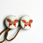 Butterfly Button Hair Elastics Hair Elastic Hair Tie - Set of 2 - Ideal Gift