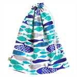 Large Swimming Bag / Waterproof Wet Bag. Pool or Beach Bag. Fish. Blue &  Aqua.
