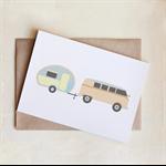 Retro Caravan Card, All Occasion, Greeting Card, Blank