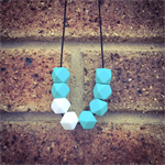Mint/White Teething Necklace