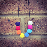Multi Colour Teething Necklace