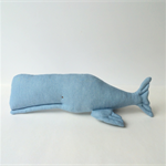 Denim Whale toy, nursery toy. Stuffed whale, cute toy. 